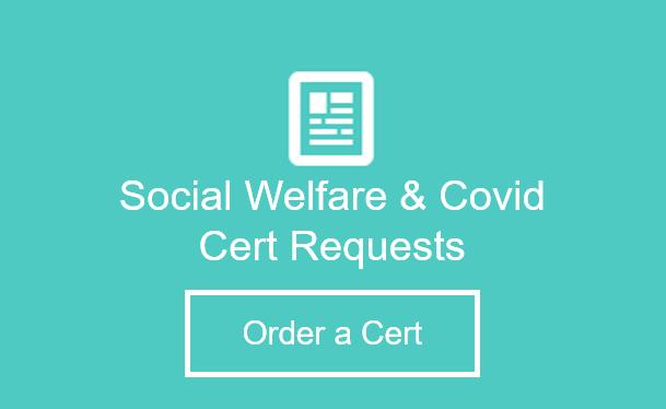 Social Welfare Cert Button